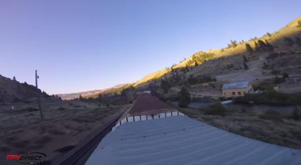 drone sul treno