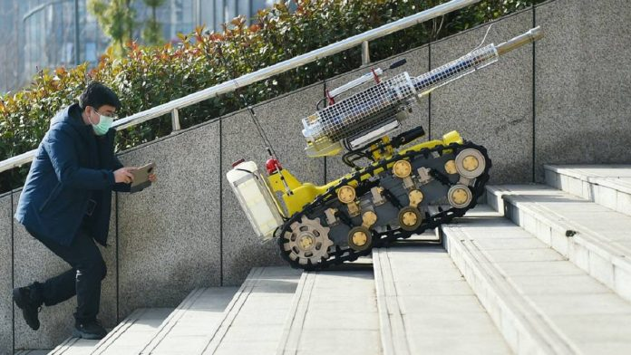 robot corona virus