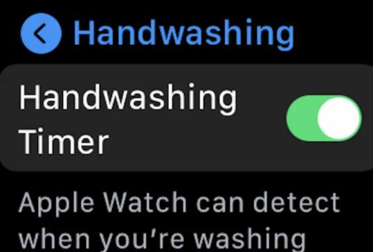 lavggio mani apple watch