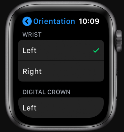 orientamento apple watch