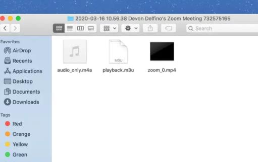 registrazioni zoom su pc