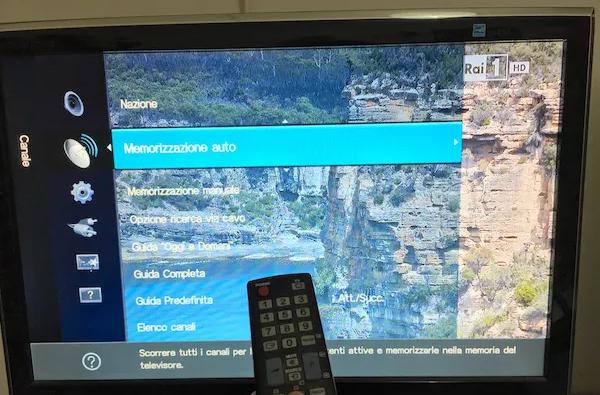 risintonizzare i canali TV