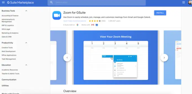 zoom for gsuite
