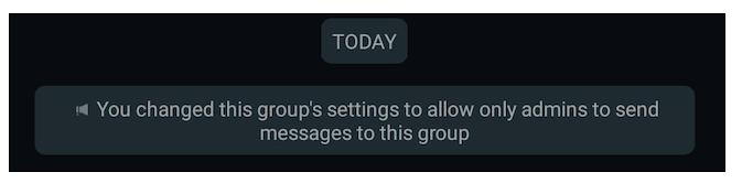 Solo gli amministratori possono inviare messaggi