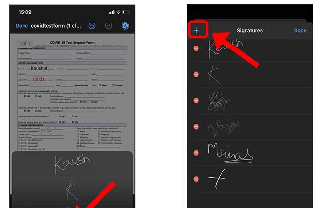 firma pdf iphone ios