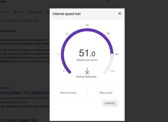 velocità di Internet di almeno 25 megabit