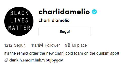 Charli D'Amelio tiktok