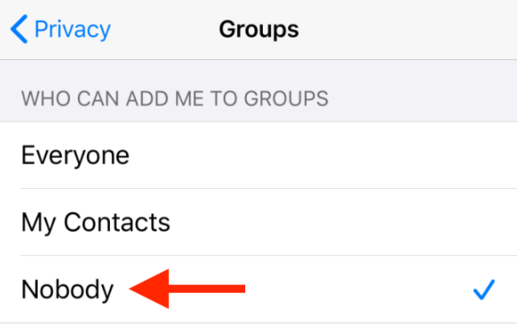 Chi può aggiungermi ai gruppi iphone whatsapp