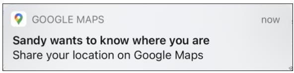notifica in Google Maps