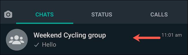 Visita la chat di gruppo di WhatsApp