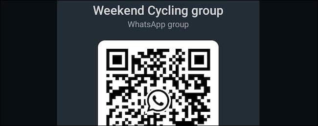 Genera codice QR di gruppo WhatsApp