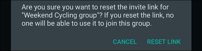 Ripristina il collegamento al gruppo di WhatsApp