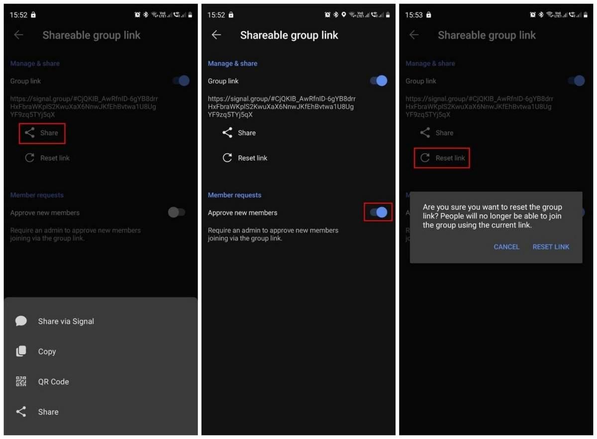 Come spostare il gruppo WhatsApp sull'app Signal