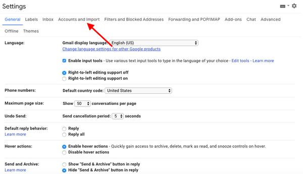 Come cambiare il nome di Gmail 3