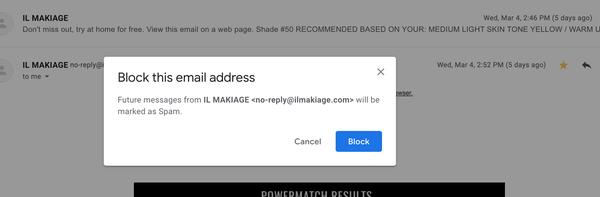 Cosa succede quando blocchi qualcuno su Gmail 3
