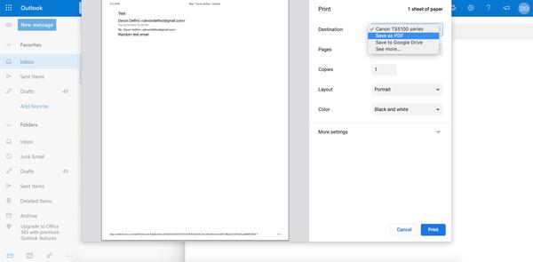 Come salvare l'e-mail di Outlook come PDF 3