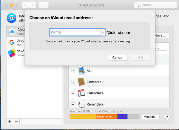 Come creare l'email iCloud 5