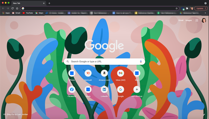 Home page di Chrome