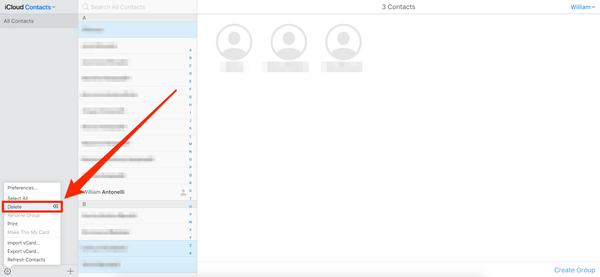 come eliminare i contatti dell'iPhone 2