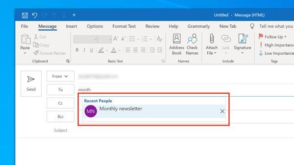 Come avviare una newsletter con Microsoft Outlook 6