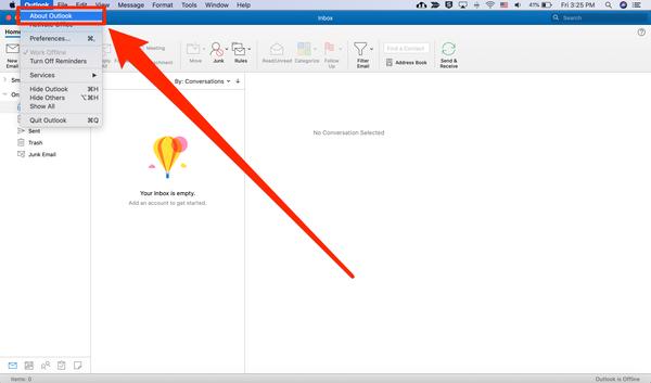 Quale versione di Outlook ho 5