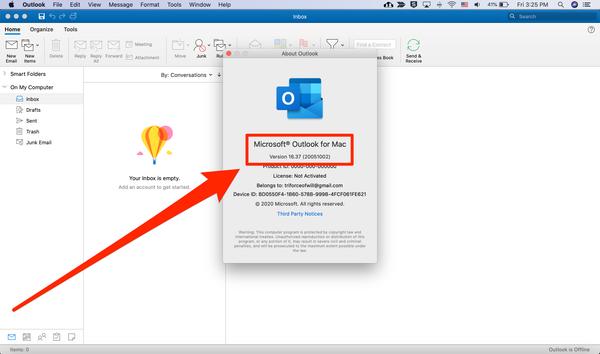 Quale versione di Outlook ho 6