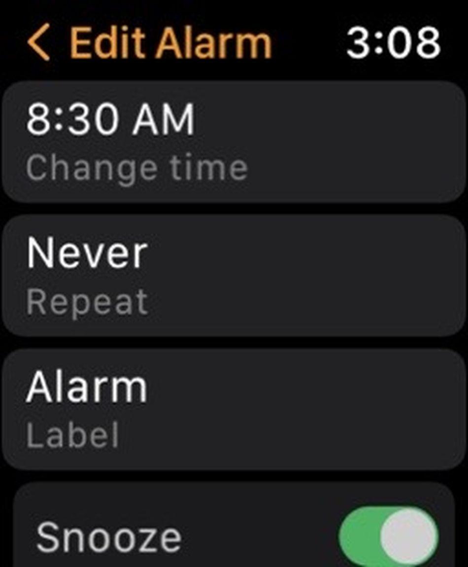 Puoi modificare ogni allarme aggiungendo etichette, scegliendo quando vuoi che si ripeta e altro ancora.