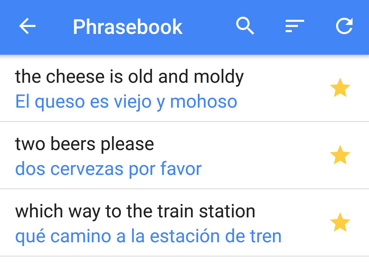 google translate frasario