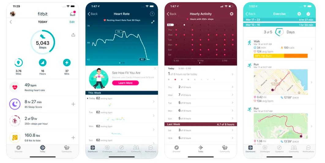 recensione dell'app fitbit