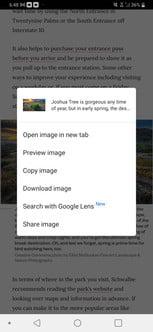 come eseguire una ricerca inversa di immagini in Android ios asearch2