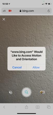 come eseguire una ricerca inversa di immagini in Android ios bing5