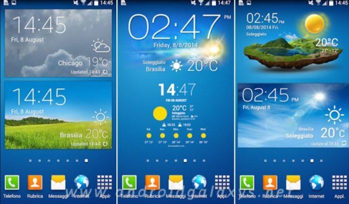 widget meteo per Android