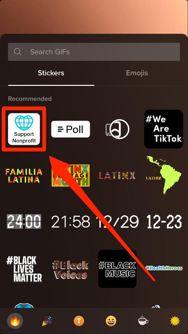Come usare l'adesivo di donazione su TikTok 2