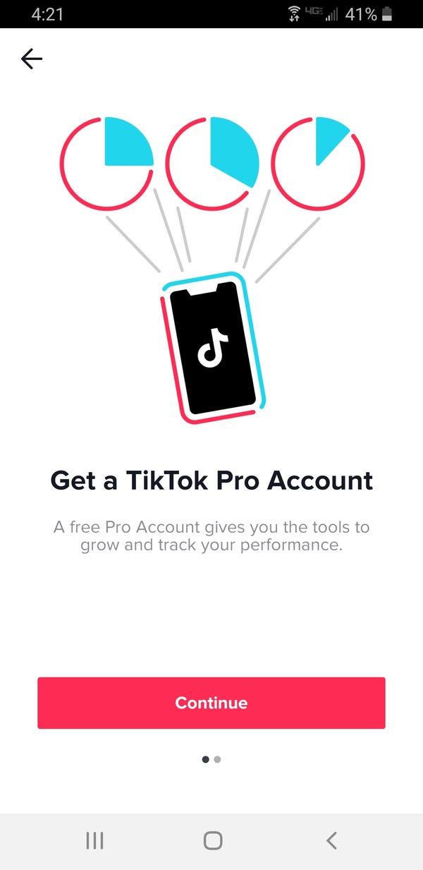 Come ottenere un account TikTok Pro 5