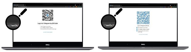 come telegram webk vs webk url