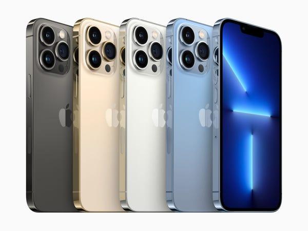 Apple iPhone 13 Pro in nero, oro, argento e blu
